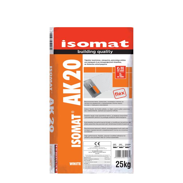 ISOMAT AK 20 WHITE 25 kgB